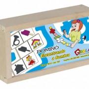 Brinquedo Educativo de Madeira Dominó Encontrando a Sombra