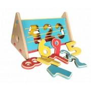 Brinquedo Educativo de Madeira Encaixa Números