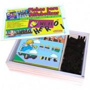 Brinquedo Educativo de Madeira Fichas para Alfabetizar