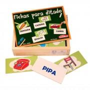 Brinquedo Educativo de Madeira Fichas para Ditado