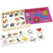 Brinquedo Educativo de Madeira Ilustrando o ABC