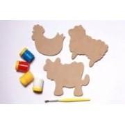 Brinquedo Educativo de Madeira Imãs Divertidos Bichos da Fazenda