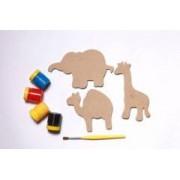Brinquedo Educativo de Madeira Imãs Divertidos Bichos do Zoológico