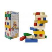 Brinquedo Educativo de Madeira Jenga Colorido
