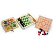Brinquedo Educativo de Madeira Jogo 4 em 1