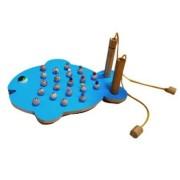 Brinquedo Educativo de Madeira Jogo da Memória Peixe