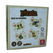 Brinquedo Educativo de Madeira Jogo da Memória Pirata