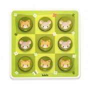 Brinquedo Educativo de Madeira Jogo da Velha entre Gato e Rato