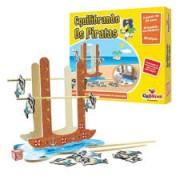Brinquedo Educativo de Madeira Jogo Equilibrando os Piratas