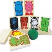 Brinquedo Educativo de Madeira Jogo Equilíbrio Animais