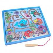 Brinquedo Educativo de Madeira  Jogo Magnético Fundo do Mar