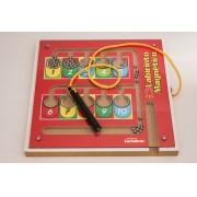 Brinquedo Educativo de Madeira Labirinto Magnético