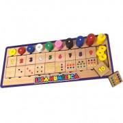 Brinquedo Educativo de Madeira Liga Numérica