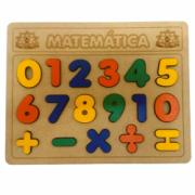 Brinquedo Educativo de Madeira Matemática Tabuleiro