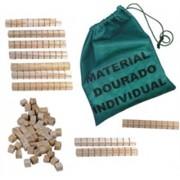 Brinquedo Educativo de Madeira Material Dourado Individual