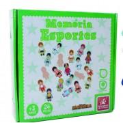 Brinquedo Educativo de Madeira  Memória Esportes