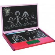 Brinquedo Educativo de Madeira Notebook Lousa Rosa