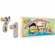Brinquedo Educativo de Madeira Numerais com Pinos