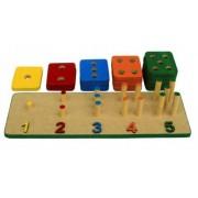 Brinquedo Educativo de Madeira Numeralizando