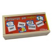 Brinquedo Educativo de Madeira Palavras em Inglês