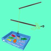 Brinquedo Educativo de Madeira Pesca Esportiva pescaria