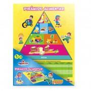 Brinquedo Educativo de Madeira Pirâmide Alimentar Alimentação Saudável
