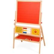 Brinquedo Educativo de Madeira Quadro Educativo 2 em 1 lousa e quadro branco