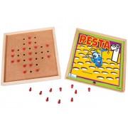 Brinquedo Educativo de Madeira Resta Um Estojo