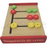 Brinquedo educativo de Madeira Sequência de Cores
