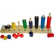 Brinquedo Educativo de Madeira Sequencia de Numerais