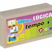 Brinquedo Educativo de Madeira Sequência Lógica Tempo