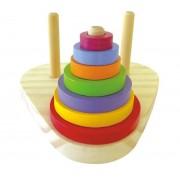 Brinquedo Educativo de Madeira Torre de Hannói