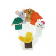 Brinquedo Educativo Dedoches em Feltro Animais Domésticos