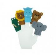 Brinquedo Educativo Dedoches em Feltro Animais Selvagens