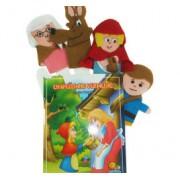 Brinquedo Educativo Dedoches em Feltro Chapeuzinho Vermelho