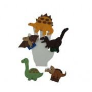 Brinquedo Educativo Dedoches em Feltro Dinossauros Pré Históricos