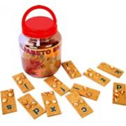 Brinquedo Educativo em Madeira Alfabeto Braille