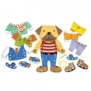 Brinquedo Educativo em Madeira Alinhavo Cãozinho