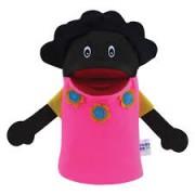 Brinquedo Educativo Fantoche de Mão Mãe Negra