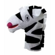 Brinquedo Educativo Fantoche de Mão Zebra
