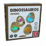 Brinquedo Educativo Jogo da Memória de Madeira  Dinossauros