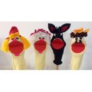 Brinquedo Educativo Kit Fantoches de Meia Chapeuzinho Vermelho