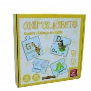 Brinquedo Educativo Quebra Cabeça em Inglês Animalfabeto