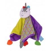 Brinquedo em Tecido Naninha Zippy a Zebra Cobertor Aconchegante
