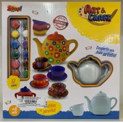Brinquedo para pintar e brincar Bule e Xícaras Coleção Art & Craft ZP00227