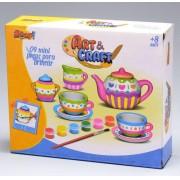 Brinquedo para Pintar e Brincar Mini Jogo de Chá Ccoleção Art & Craft ZP00229