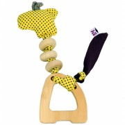 Brinquedo Sensorial Girafa Chocalho de Madeira