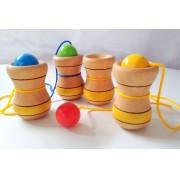 Brinquedo Tradicional de Madeira Bilboquê Copinho Cores Sortidas
