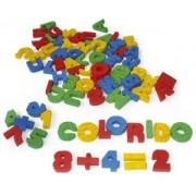Brinquedos Educativo de Madeira Alfanúmeros Letras, Números e Sinais recortados