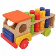 Caminhão de Madeira Caminhão Pedagógico com Pinos